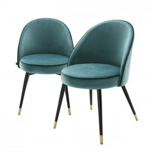 COOPER SET OF 2 TURQOISE Dining chair EICHHOLTZ