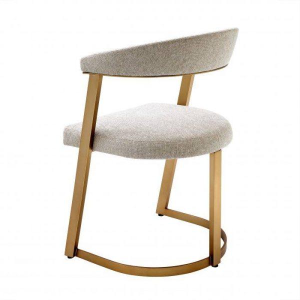 DEXTER Dining chair brass EICHHOLTZ