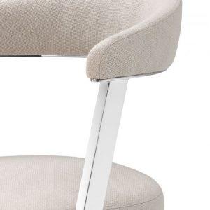 DEXTER Dining chair nickel EICHHOLTZ