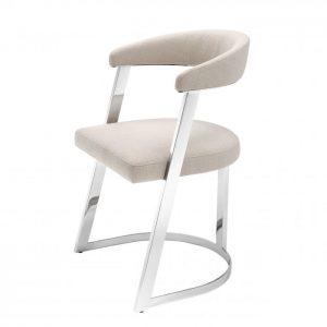 DEXTER NICKEL Dining chair EICHHOLTZ