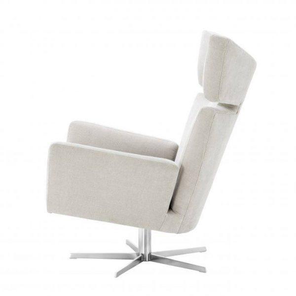 EDUARDO Swivel chair white EICHHOLTZ