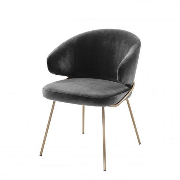 KINLEY DARK GREY Dining chair EICHHOLTZ