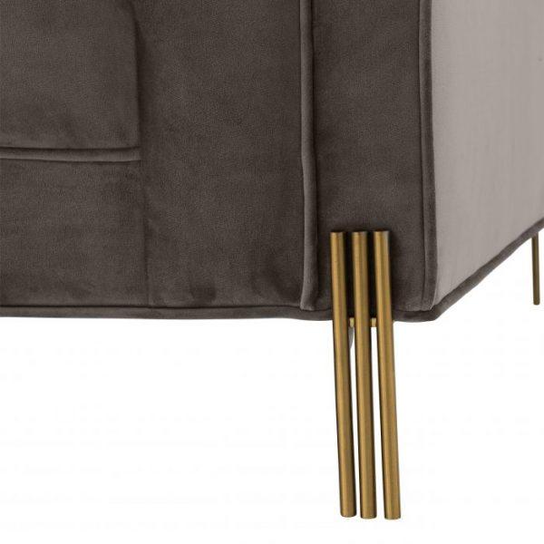 SIENNA GREY Chair brass detail EICHHOLTZ