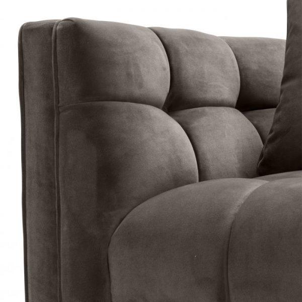 SIENNA GREY velvet Chair EICHHOLTZ