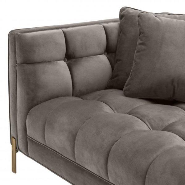 SIENNA GREY velvet sofa EICHHOLTZ