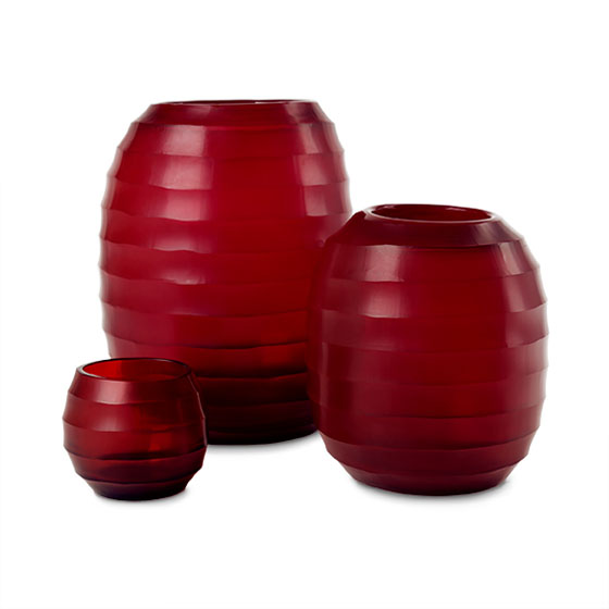 belly red vases Guaxs