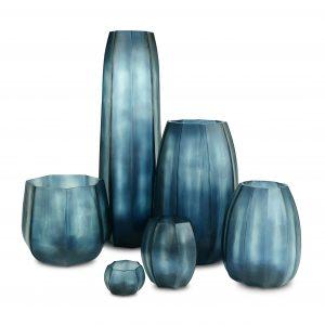 koonam oceanblue indigo Guaxs vases