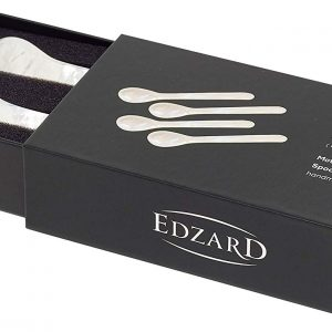 MOTHER OF PEARL Eggspoons 4 rounded Edzard