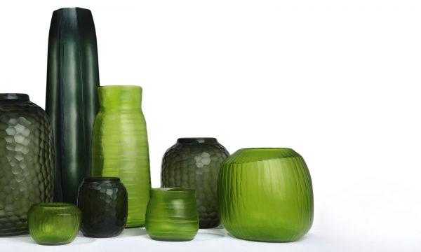 Luxury vases GUAXS light steelgrey green