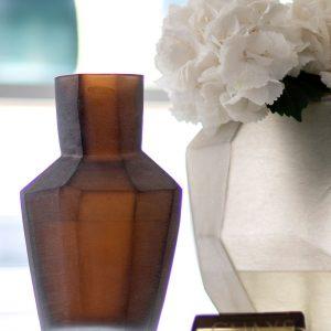 Designer vase GUAXS kahulu brown