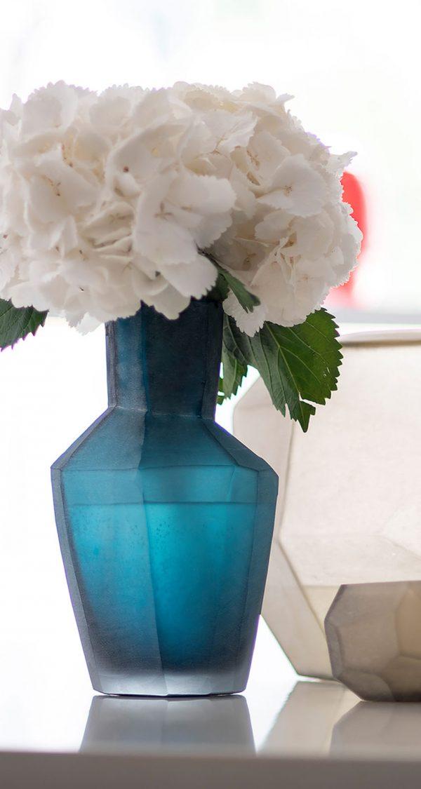 Designer vase GUAXS kahulu petrol