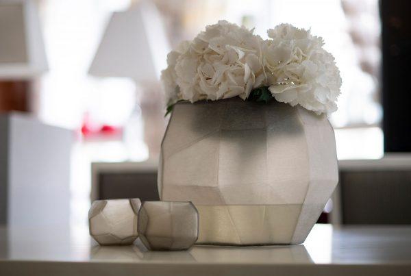 GUAXS deko cubistic grey vases