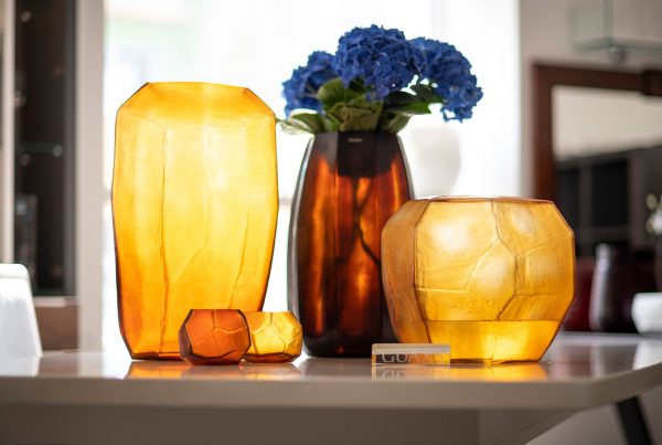 GUAXS vase glass gold limited collection