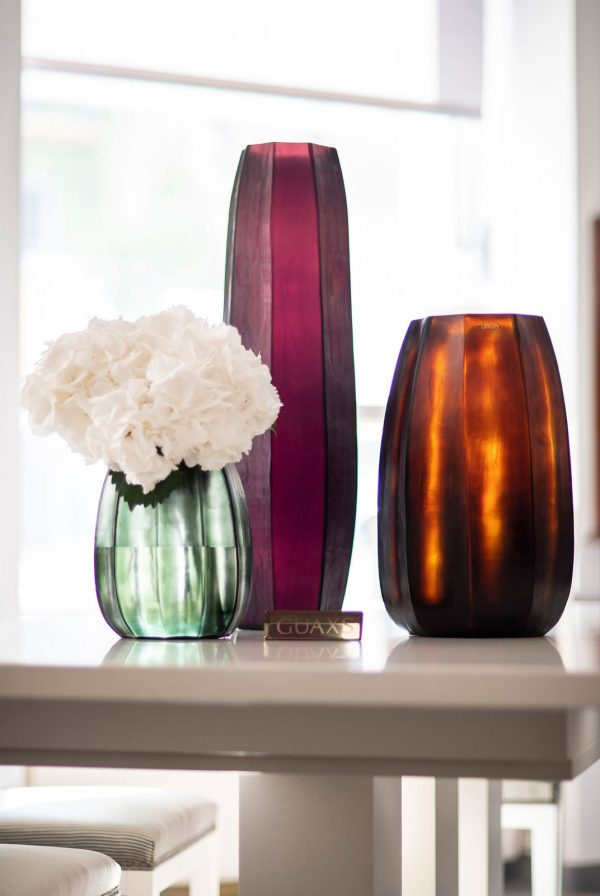 GUAXS vase black steelgrey koonam butterbrown amethyst tall