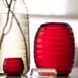 GUAXS vases belly red mathura grey
