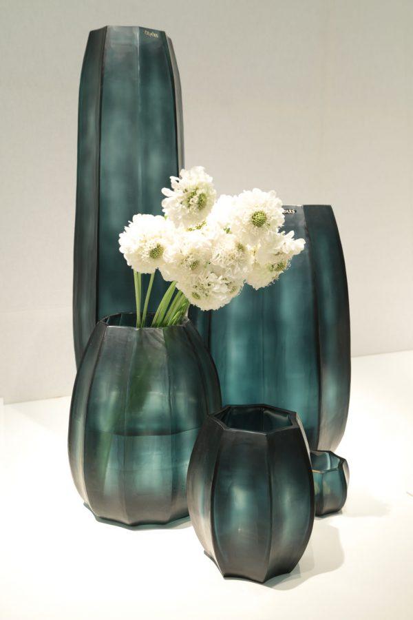 guaxs koonam oceanblue indigo tall vase