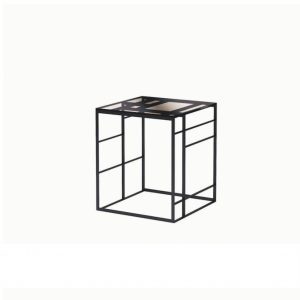 MATRIX Side Table black chrome SELVA