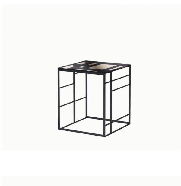MATRIX Side Table black chrome SELVA