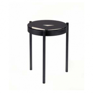 Piccadilly BLACK CHROME SIDE Table SELVA