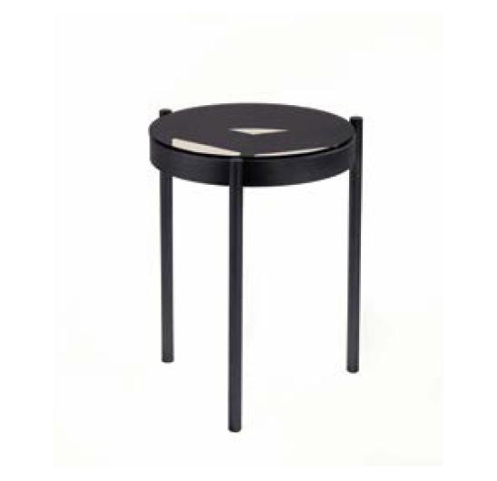 Piccadilly BLACK CHROME SIDE Table SELVA