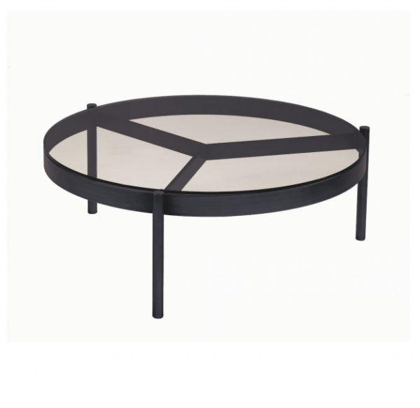 Piccadilly black chrome Coffee Table SELVA