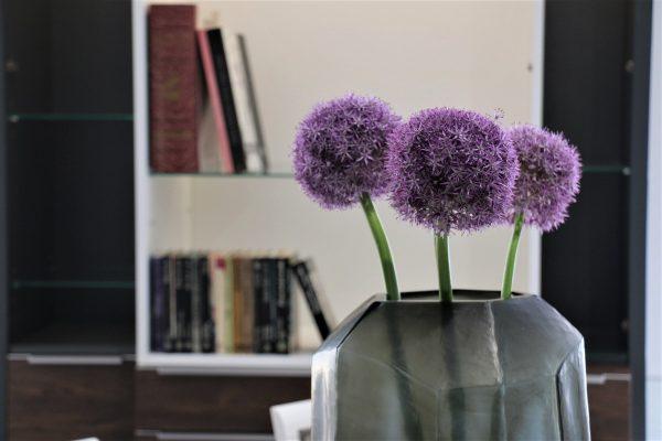 guaxs cubistic tall vase indigo smokegrey