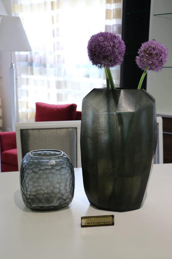 guaxs vase indigo smokegrey somba cubistic tall