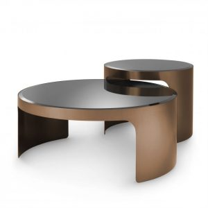 COFFEE TABLE PIEMONTE SET OF 2 copper Eichholtz_