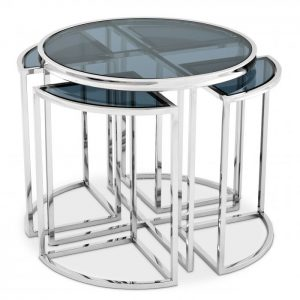 SIDE TABLE VICENZA steel Eichholtz
