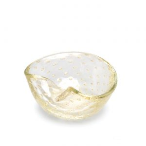 Balloton bowl 1 transparent-gold by Seguso GARDECO CDO-17266