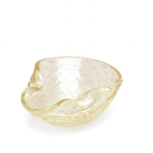 Balloton bowl 2 transparent-gold by Seguso GARDECO CDO-17276