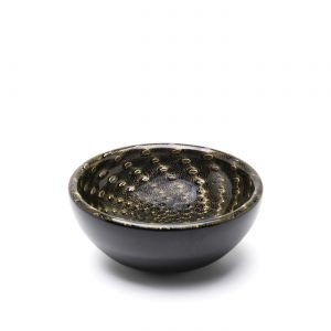 Balloton bowl black-gold by Seguso GARDECO CDO-17249
