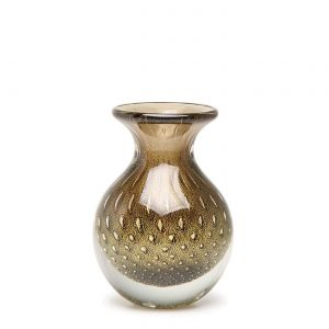 Balloton mini vase low fume-gold by Seguso GARDECO CDO-17159