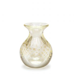 Balloton mini vase low transparent-gold by Seguso GARDECO CDO-15659