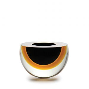 Bowl drop flat black-ambar by Seguso GARDECO CDO-16033