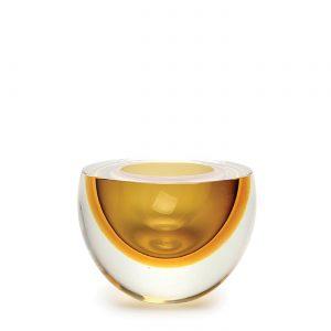 Bowl drop flat fume-ambar by Seguso GARDECO CDO-15662