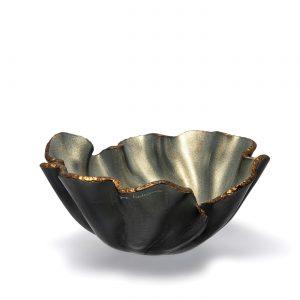 Bowl lirio R perola topo bronze by Regina Medeiros GARDECO RM-LIRIORPER