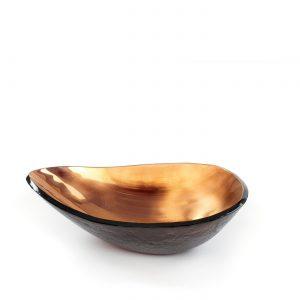 Bowl ovo bronze para cima by Regina Medeiros GARDECO RM-OVOCIMA