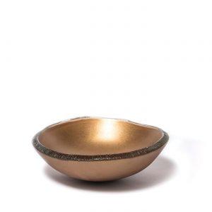 Bowl topo listrado cobre 28 by Regina Medeiros GARDECO RM-BTRCOB28