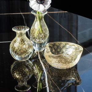 CDO-15651 Balloton mini vase high transparent-gold (2)