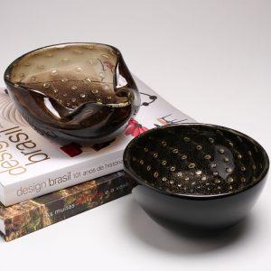 CDO-17275 Balloton bowl 2 fumê-gold