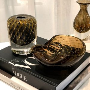 CDO-17300 Balloton square vase black-gold (1)