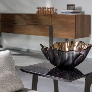 RM-LIRIORBR Bowl lirio R bronze by Regina Medeiros
