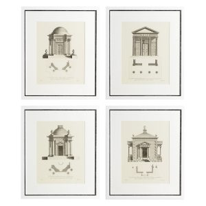 ARCHITECTURE SET OF 4 PRINTS Eichholtz 105679