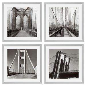 NEW YORK BRIDGES SET OF 4 PRINTS Eichholtz 106547