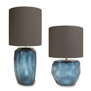 CUBISTIC TABLE LAMP oceanblue Indigo Guaxs 9537-9538obin