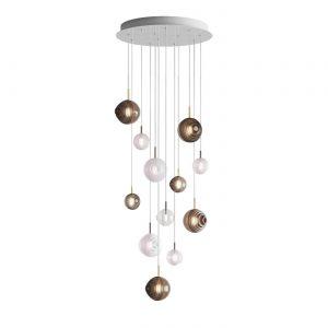 Dark & bright star chandelier-12 pcs dark, bright BOMMA