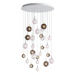 Dark & bright star chandelier-26 pcs dark, bright BOMMA