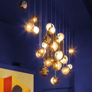 Dark & bright star chandelier BOMMA copy