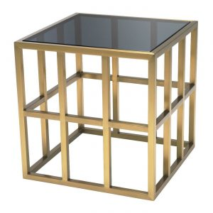 LAZARE SIDE TABLE Eichholtz 114767 brass